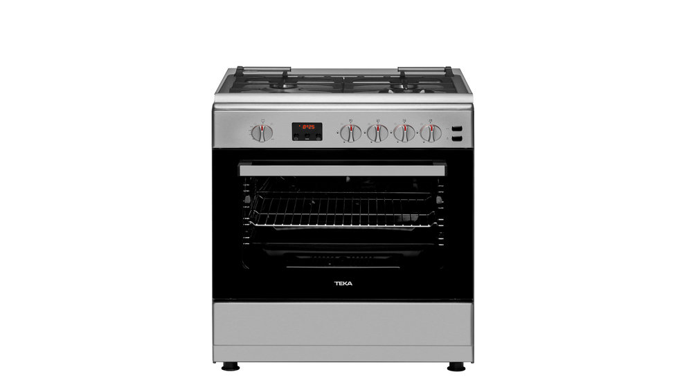 View 1 of free standing cooker FS 601 4 GG Stainless Steel by Teka