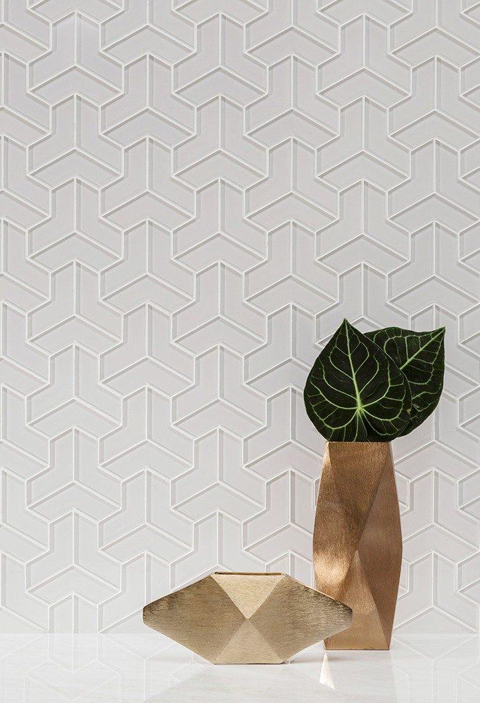 Fantastic Arctic White   Luxury and Design Glass Mosaic Tiles   AKDO YF76