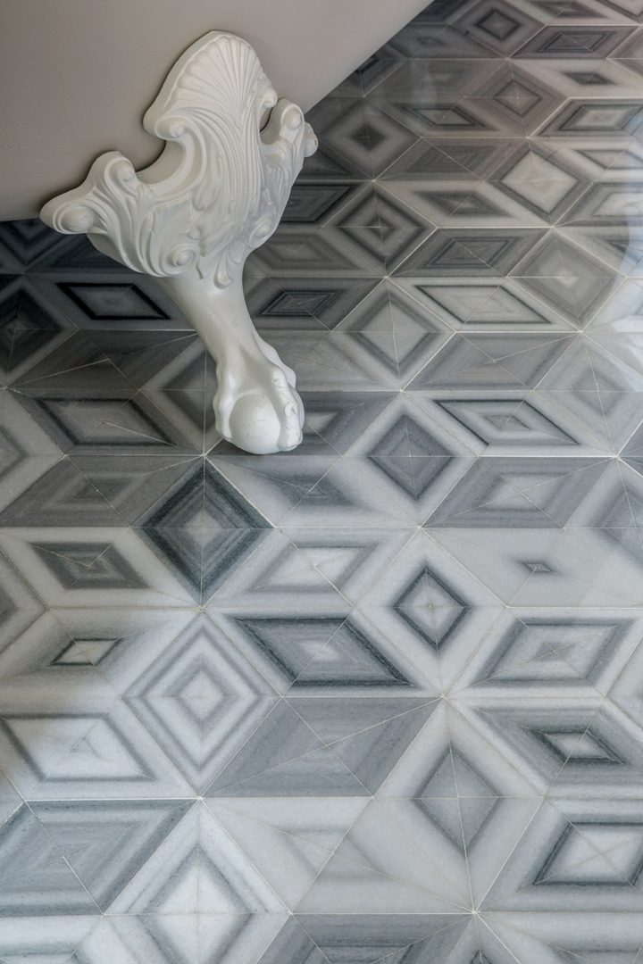 Floor detail from the 2015 Kips Bay Decorator Show House designed by Peter Sinnott IV.