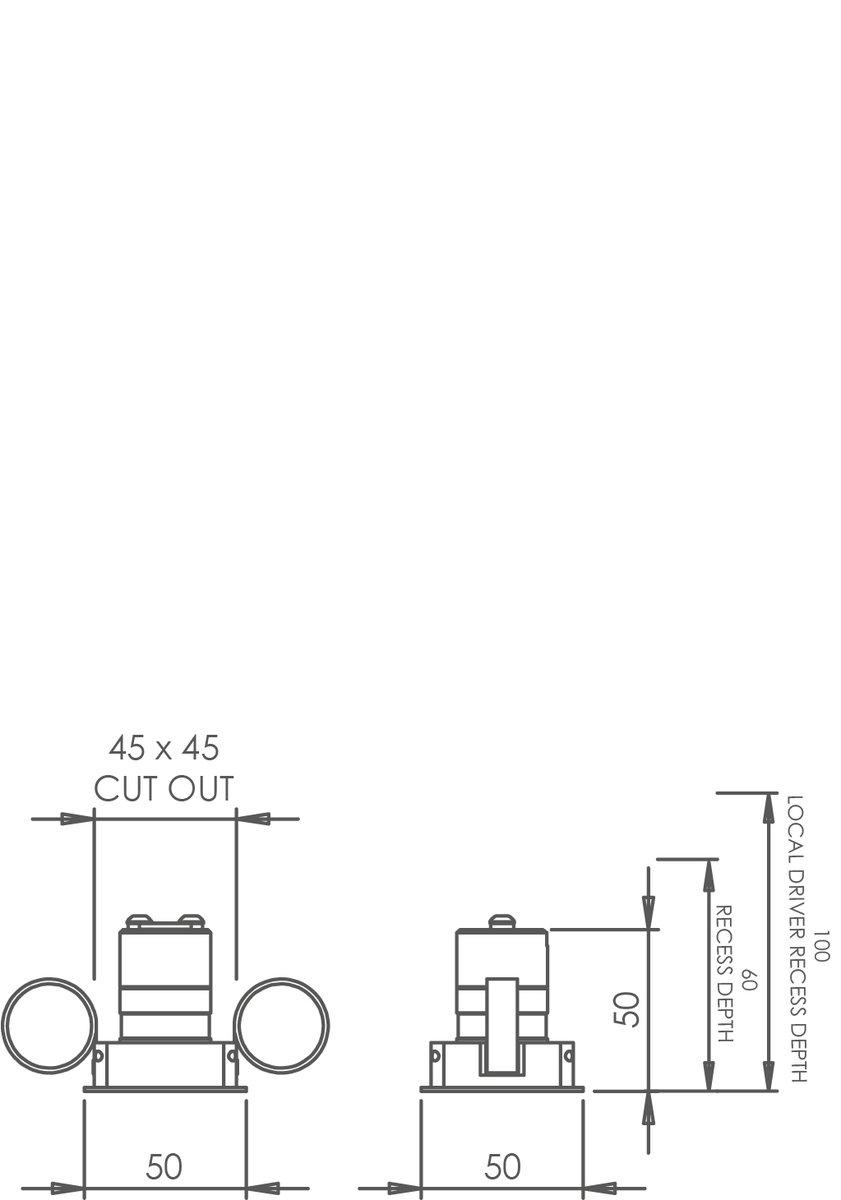 Square 30 Trim Downlight technical image