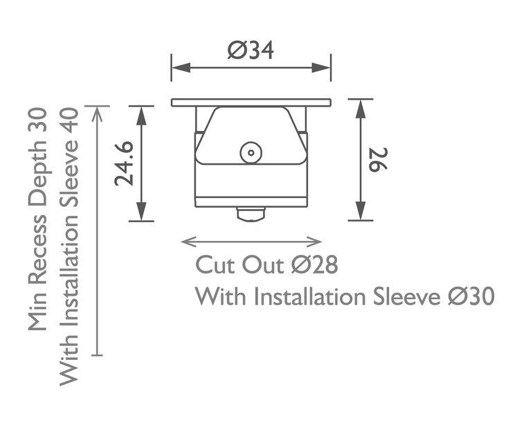 Luccini Miniature Uplight technical image