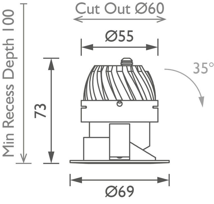Flush 50 Downlight technical image
