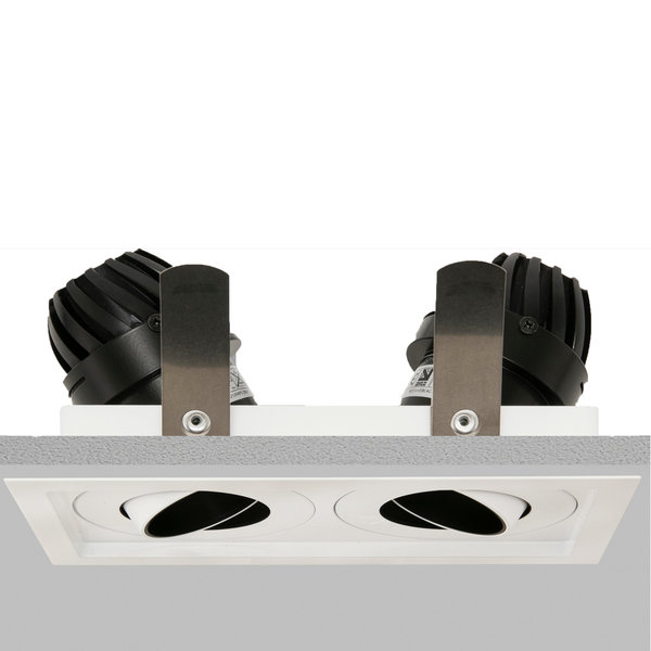 Square Double 50 Downlight