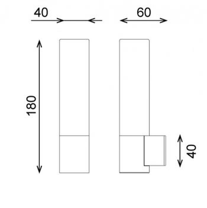 Bari Bathroom Halogen IP Rated Light technical image