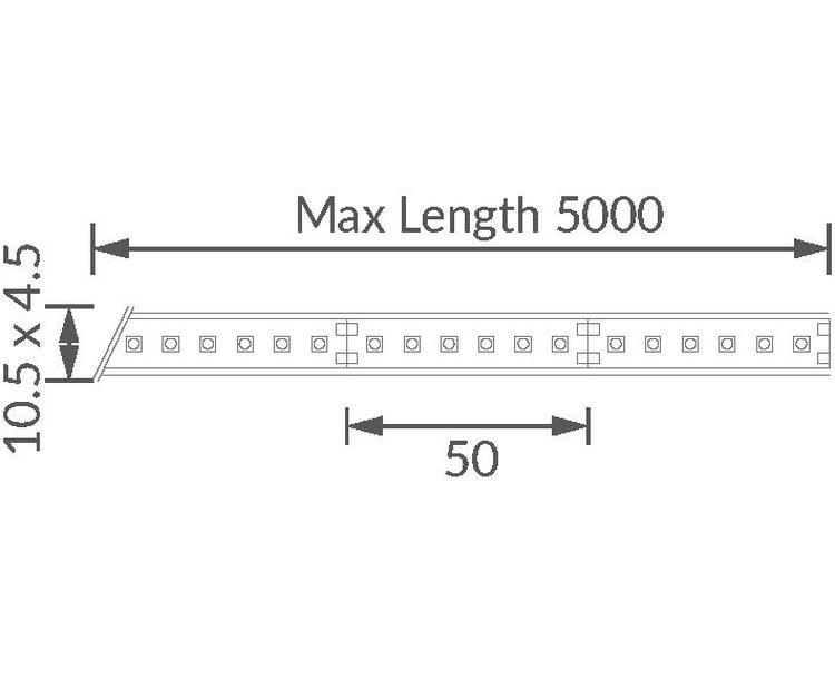 Contour HDX24 LED Strip technical image