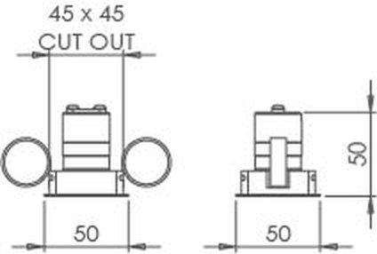 Square Trim 30 Downlight technical image