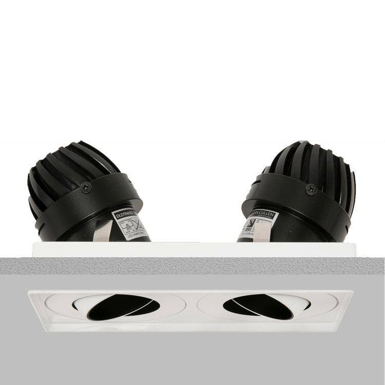 Square Double 50 Trimless Downlight