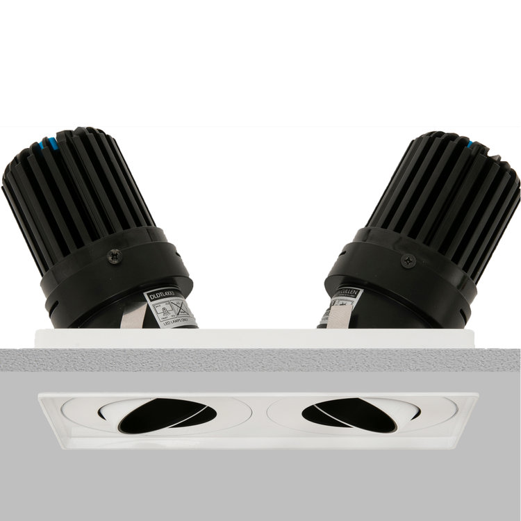Square Double 50+ Trimless Downlight