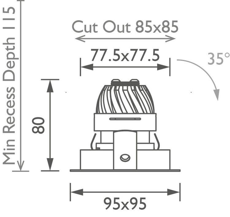 Square 50 Trim Downlight technical image