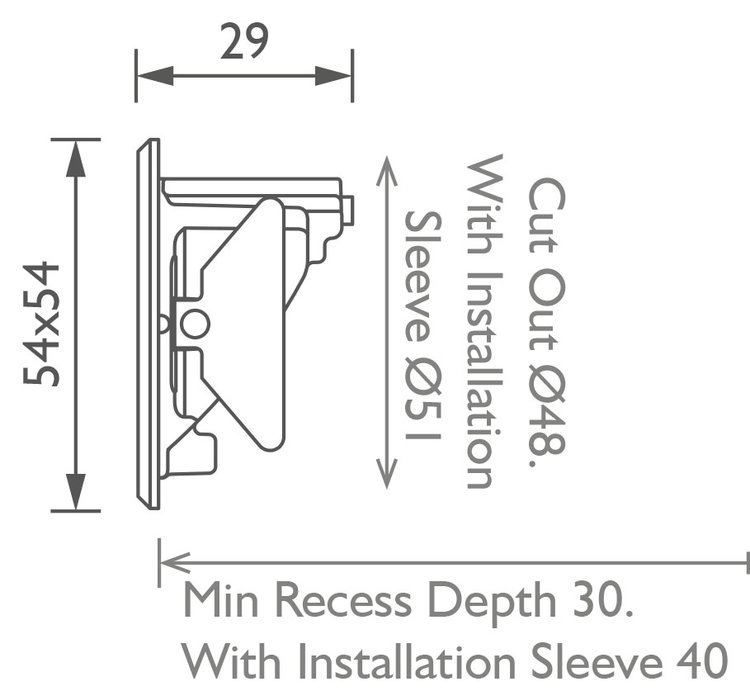Cazalla Miniature Steplight technical image