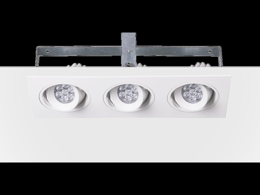 Downlights directionnels encastrés multiples modulaires