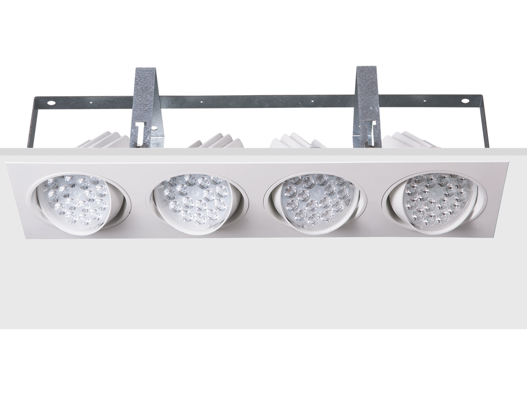 Modular multiple recessed directional downlights
