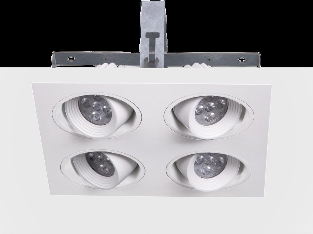 Downlights modulari da incasso a soffitto