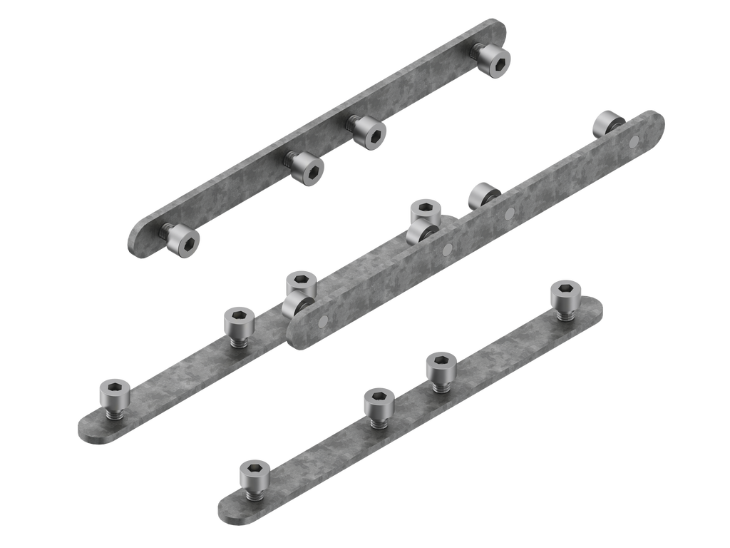 Continuous-coupler bracket (60 mm Down & Up profile)