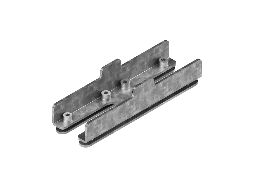 Continuous-coupler bracket (40/50 mm Down profile)