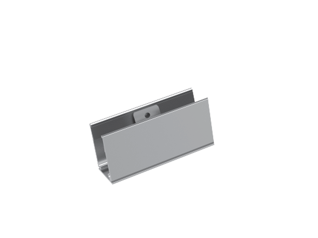 Self locking aluminium mounting clip