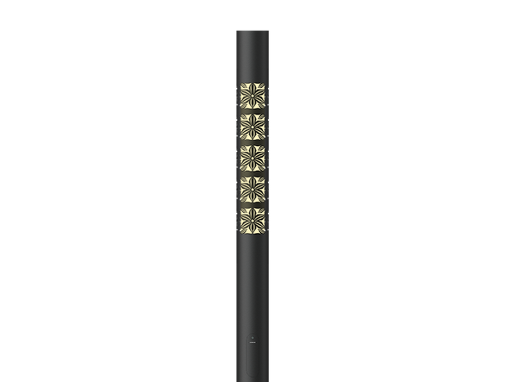 Graphic 1 - 3000K - 45W - 3.675 m - Cylindrical, straight aluminium lighting poles with illuminated decorative graphic for ARIZONA