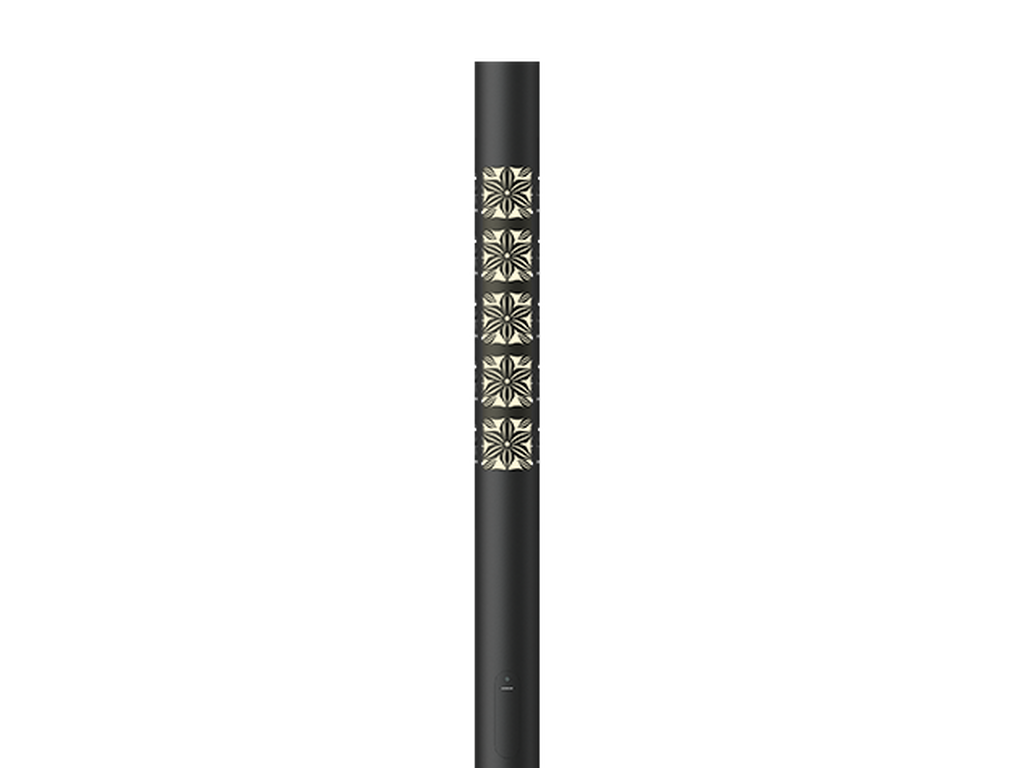 Graphic 1 - 4000K - 45W - 3.675 m - Cylindrical, straight aluminium lighting poles with illuminated decorative graphic for ARIZONA