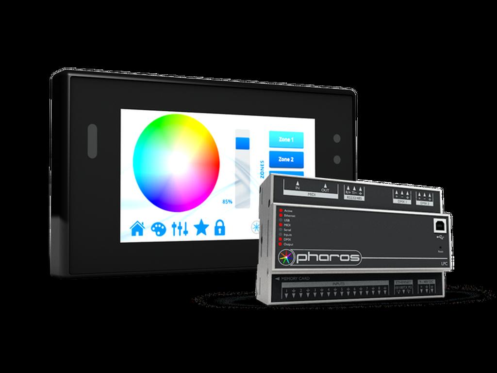 Pharos - TPC touch screen & LPC controller DMX 2 Universe