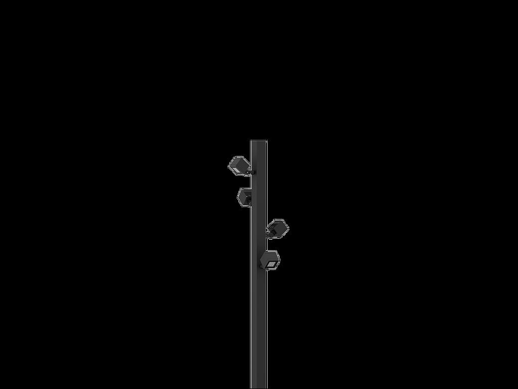 Projektører og floodlight: Facade-, væg-, maste-, spyd- og flisemontering