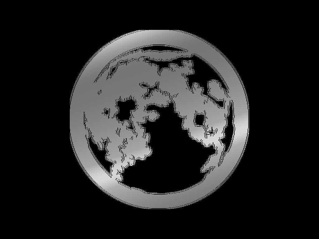 Moon - Metal gobo - M Size