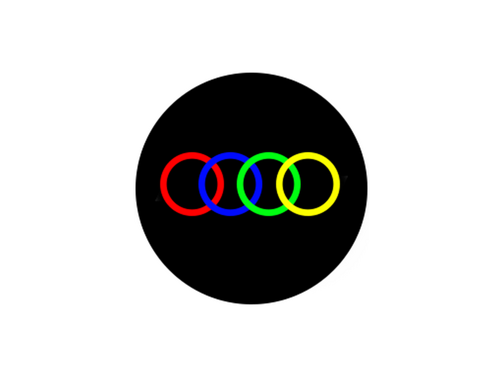 CUSTOM - 4 colours - Glass gobo - M Size