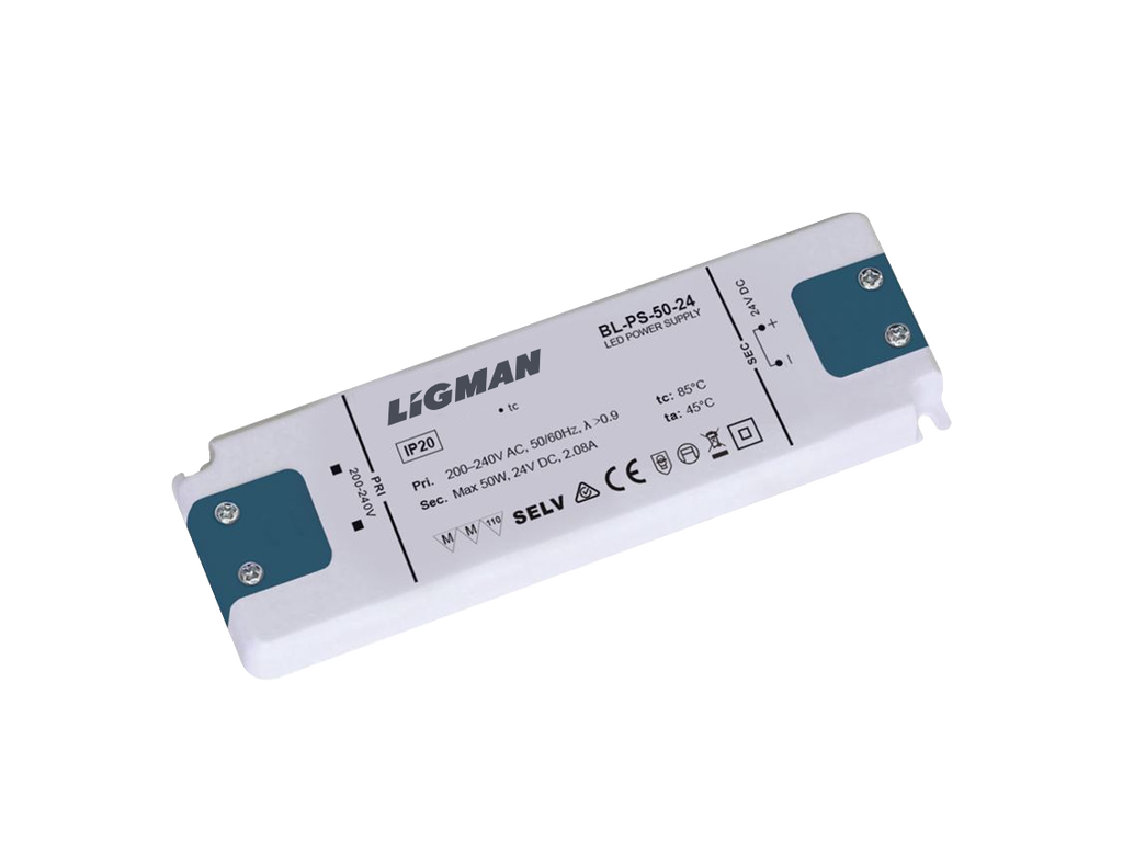 Driver PWM - 50 W - IP20 - Constant voltage - 24V