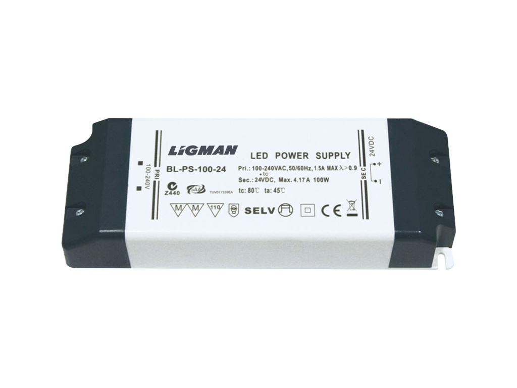 Driver PWM - 100 W - IP20 - Constant voltage - 24V