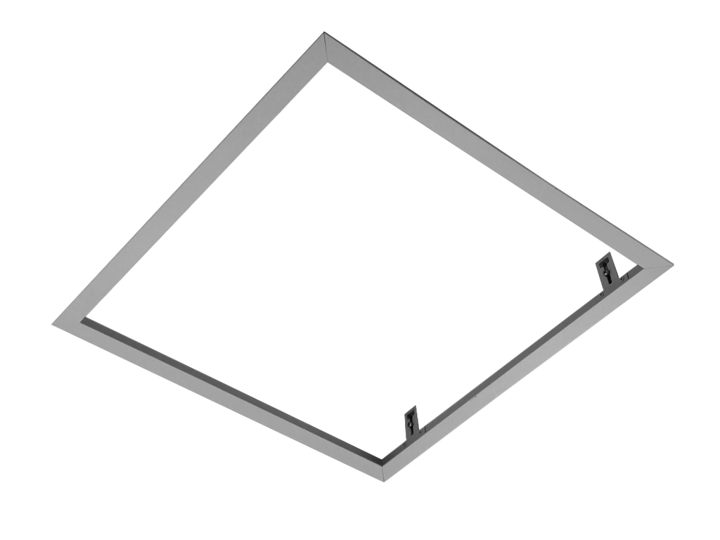 Frame for recessed installation of fittings into gypsum plasterboard ceiling  SQUARE (White)