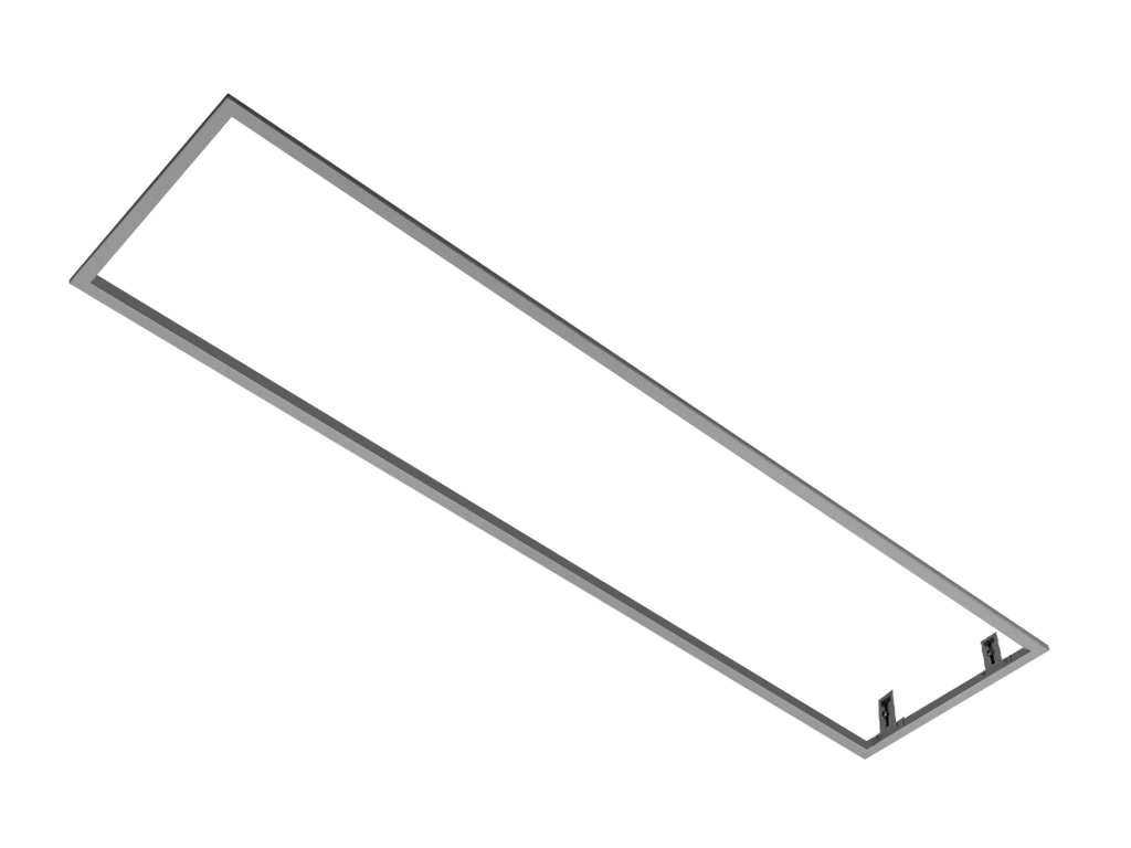 Frame for recessed installation of fittings into gypsum plasterboard ceiling RECTANGLE (White)
