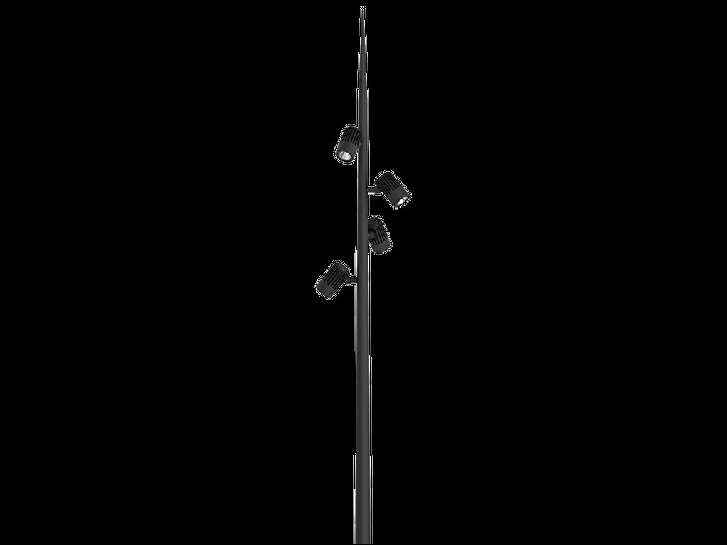 โคมไฟฟลัดไลท์และโคมไฟโปรเจคเตอร์ติดเสาสูง