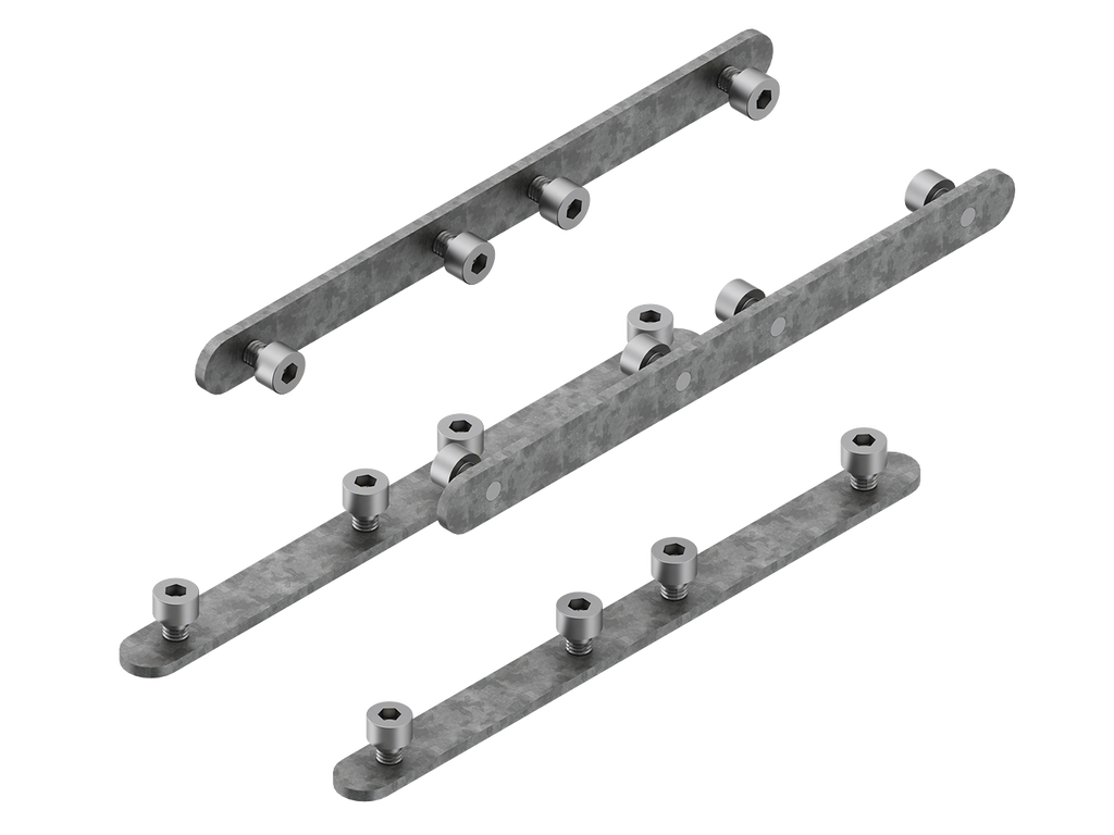 Continuous-coupler bracket (60/70 mm Down & 60 mm Down & Up profile)