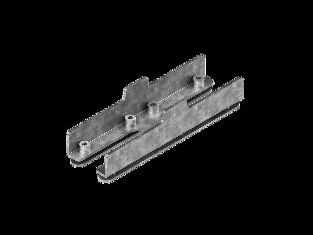 Continuous-coupler bracket (40/50 mm Down profile)