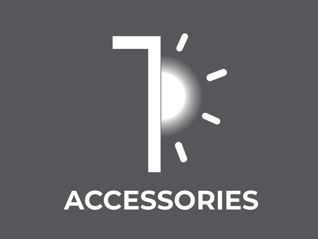 Outdoor luminaire accessories