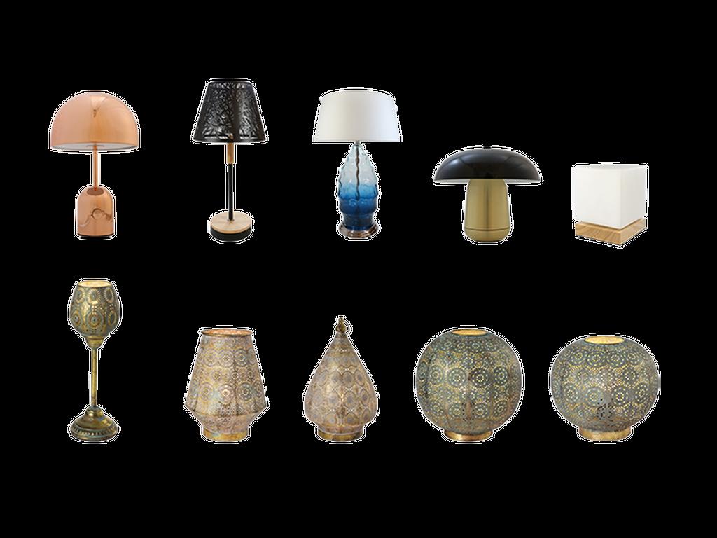 Table floor luminaires