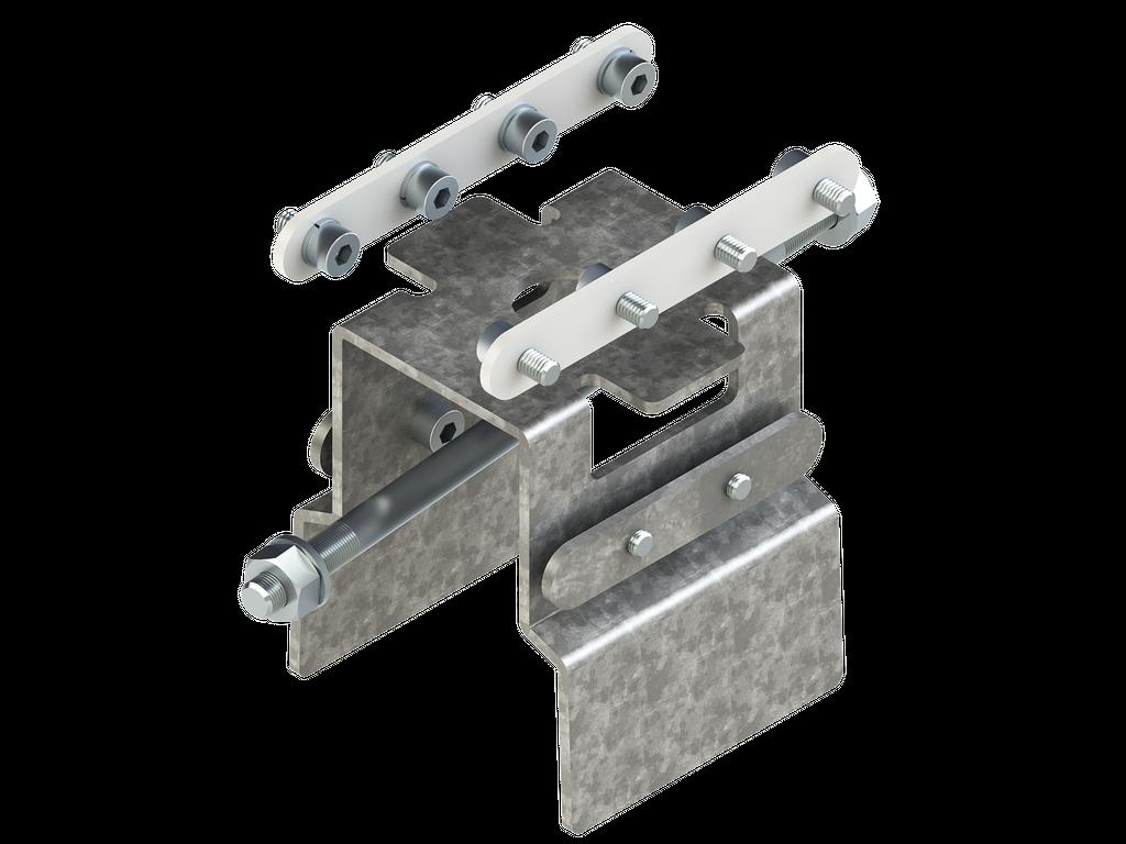 Continuous-coupler bracket