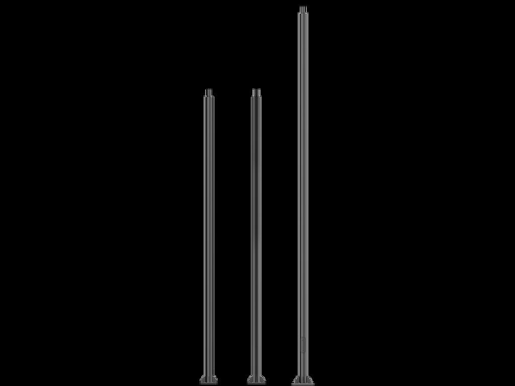 Mâts d'éclairage cylindriques droits en acier galvanisé