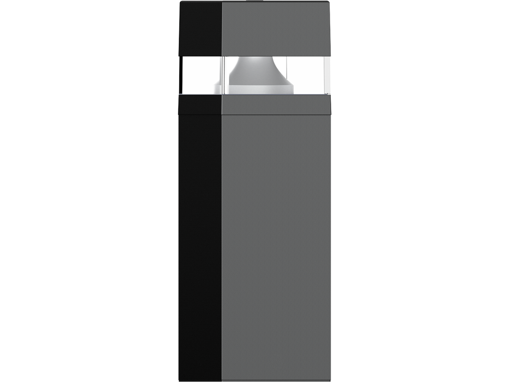 Bollards with microwave motion sensor