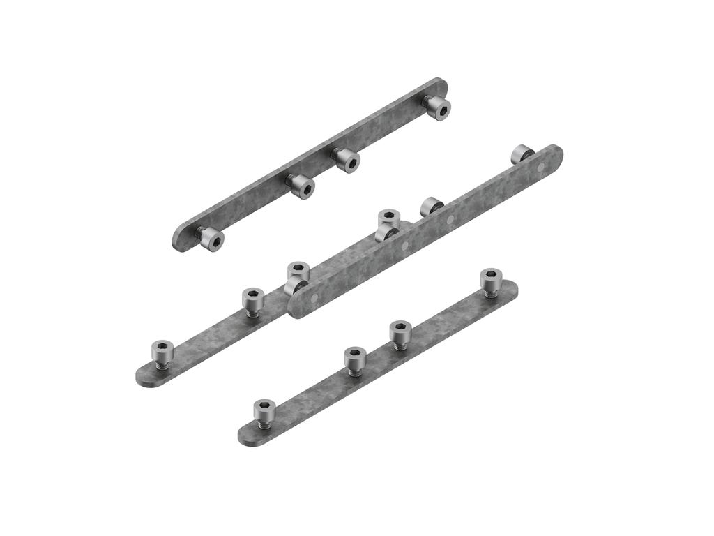 Continuous-coupler bracket (60 mm Down & Up profile)