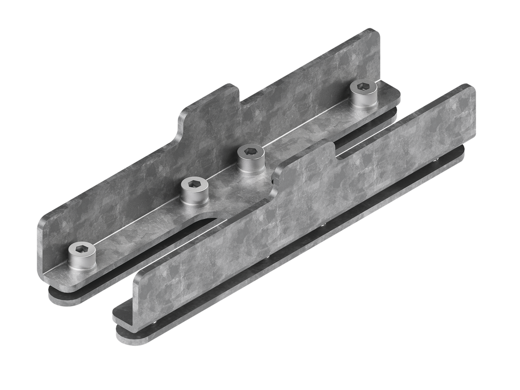 Continuous-coupler bracket (40 mm Down & Up  profile)
