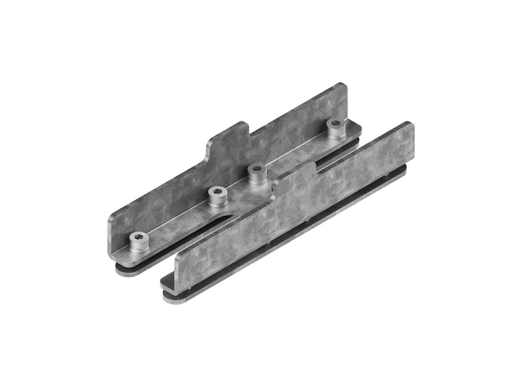 Continuous-coupler bracket (40 mm Down & Up  profile)