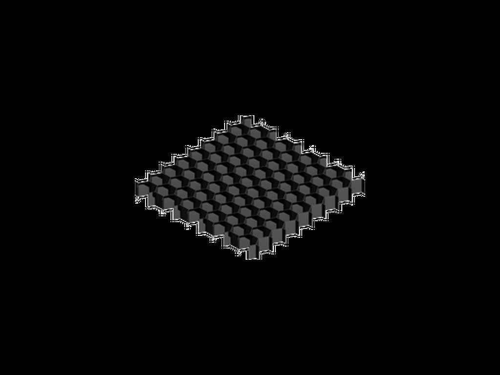 Honeycomb louvre
