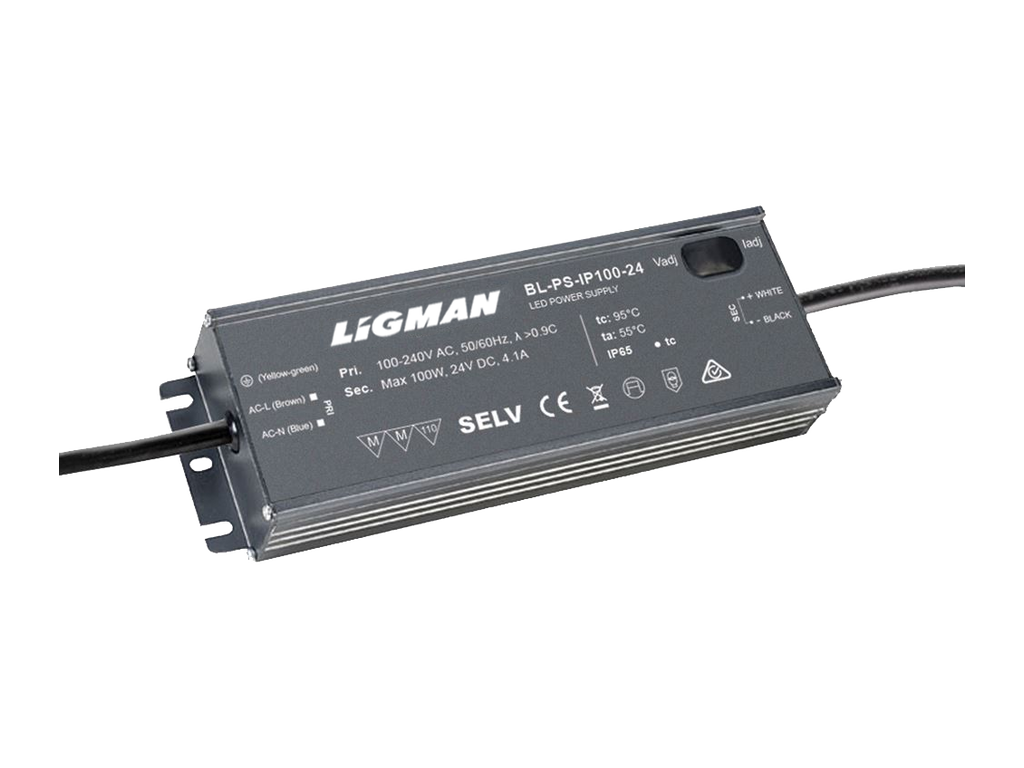 Driver PWM - 100 W - IP65 - Constant voltage - 24V