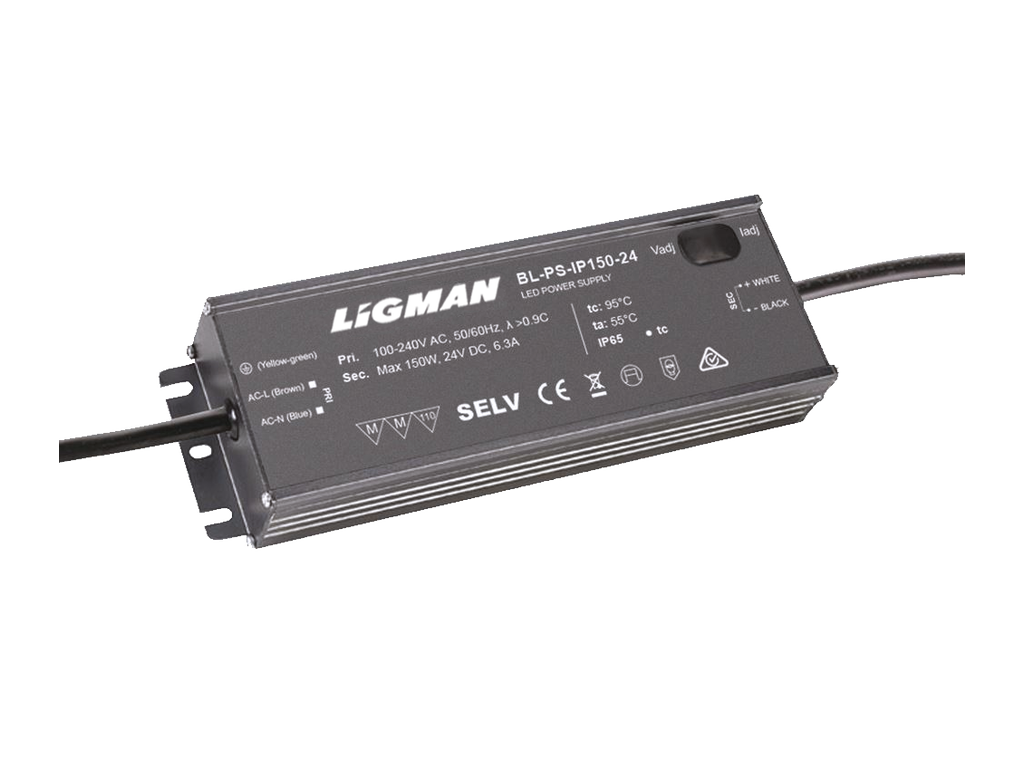 Driver PWM - 150 W - IP65 - Constant voltage - 24V