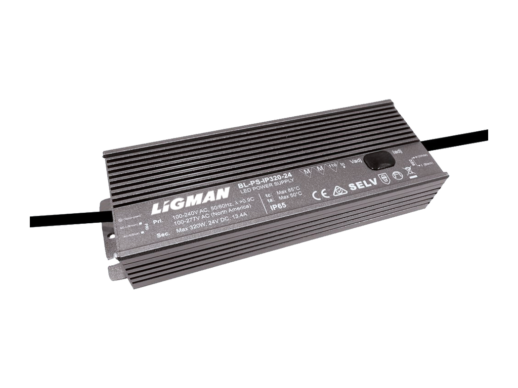 Driver PWM - 320 W - IP65 - Constant voltage - 24V