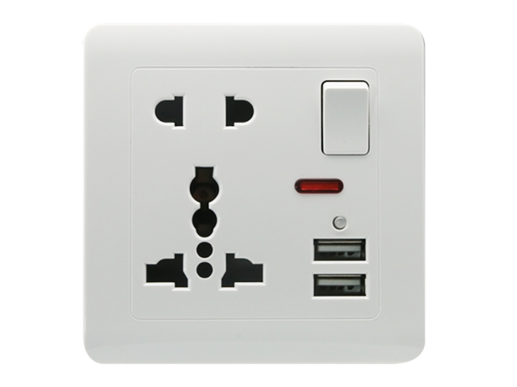 Universal power plug & USB