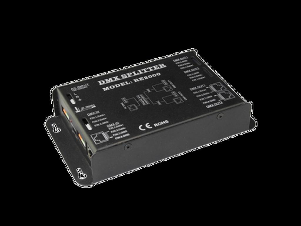 DMX splitter & amplifier within an IP box