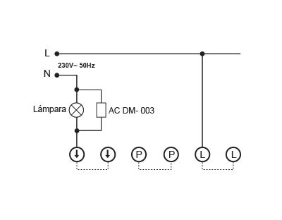 COMPENSADOR DE CORRIENTES DE RETORNO – AC DM 003 - Esquema de instalación - Dinuy