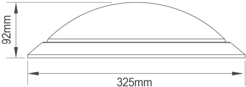 PLAFÓN LED 18W CON DETECTOR DE MOVIMIENTO HF – DM HF1 PL2 - Dimensiones - Dinuy