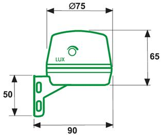 TWILIGHT SWITCHES – IC DIN 003 - Dimensions - Dinuy